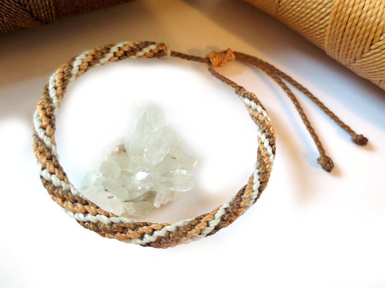friendship bracelet Czech crystal Macrame spiral