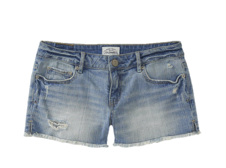 Aeropostale Women's Shorty Jean Shorts Medium Wash Destructed 0368 5/6