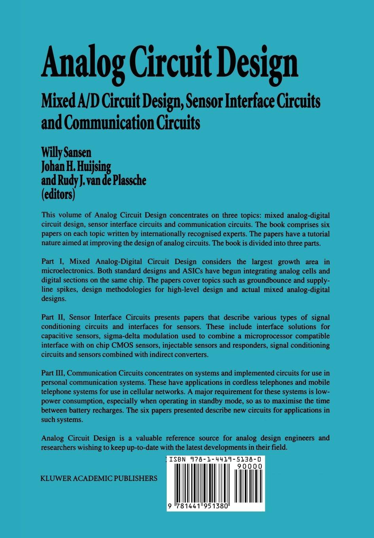 Buy Analog Circuit Design: Mixed A/D Circuit Design, Sensor ...