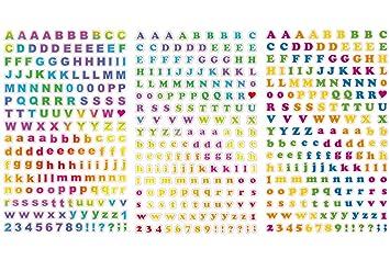 Polaroid coloridas pegatinas del abecedario para fotos en papel de foto 2x3 (Snap, Zip, Z2300) - 3 hojas exclusivas