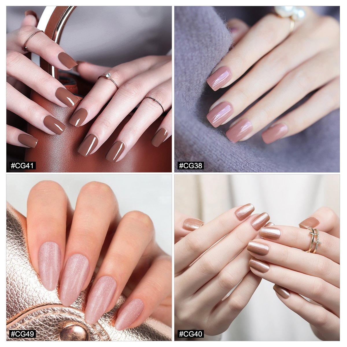 Amazon.com : Azure Beauty Soak Off UV LED Gel Nail Polish for Nails ...
