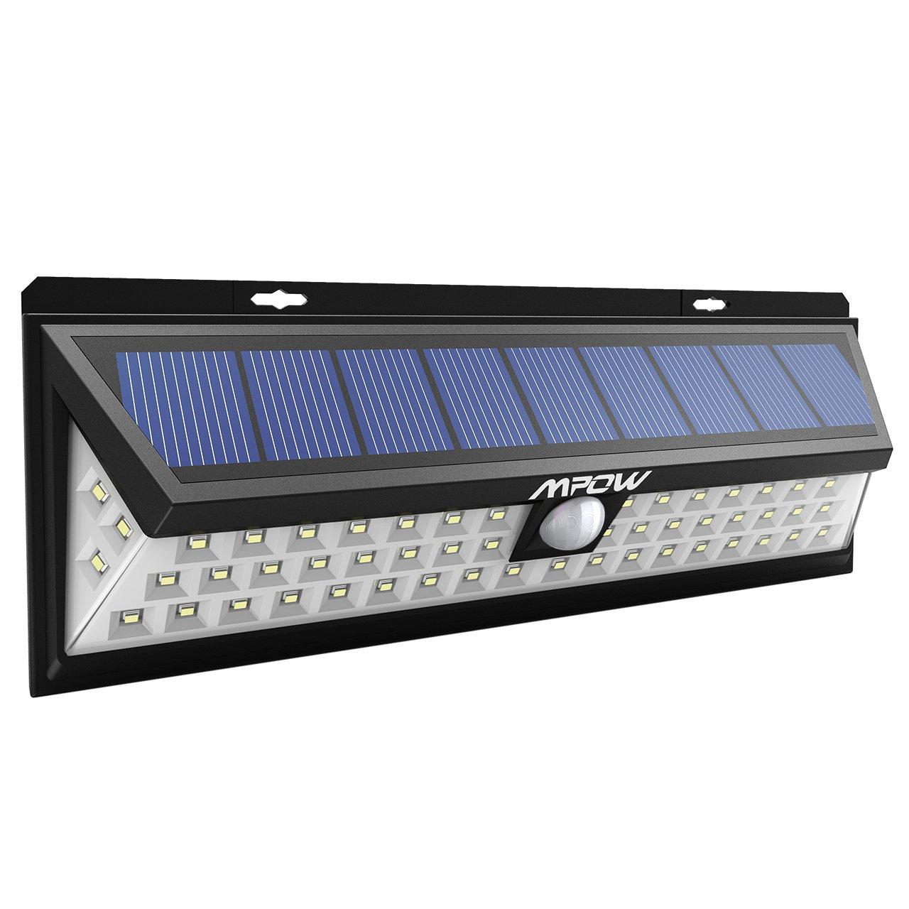 Mpow 54 Led Sicherheitsleuchten Solarbetriebene Lampen Fur Draussen