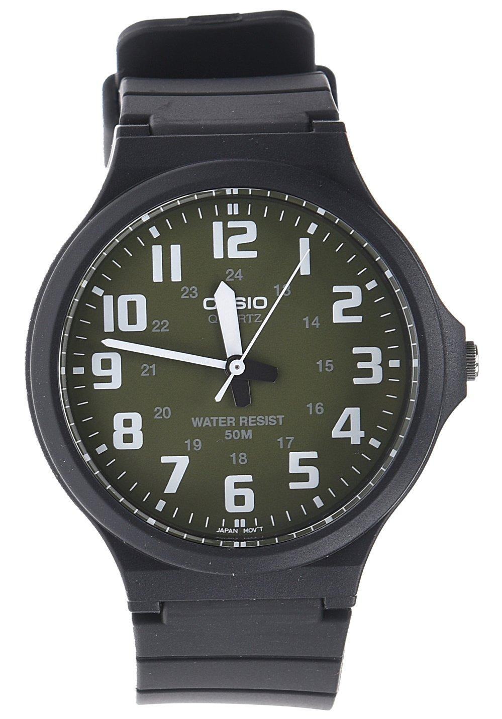 CASIO MW-240-3BVEF - Reloj de Cuarzo con Correa de Resina para Hombre, Color Negro