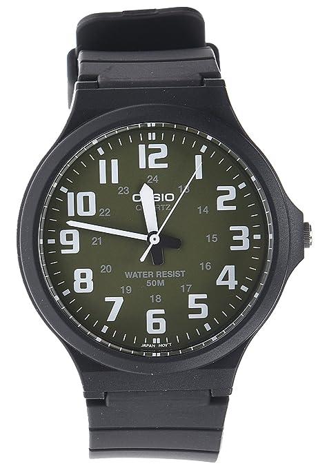 d19f1de4a653 CASIO MW-240-3BVEF - Reloj de Cuarzo con Correa de Resina para Hombre