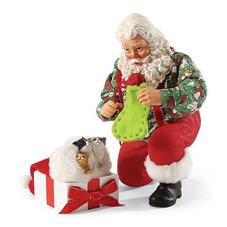 Department 56 Possible Dreams Purr-Fect Gift Santa, 10 inch