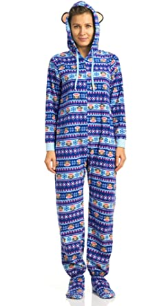 Paul Frank Classics 1 Piece Hooded Pajamas With Feet 1eb4e8bd1