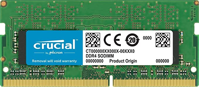 Crucial 8GB Single DDR4 2400 MT/s (PC4-19200) SR x8 SODIMM 260-Pin for Mac - CT8G4S24AM Internal Memory Card Readers at amazon
