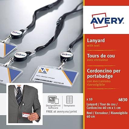 Avery España 4830 - Pack de 10 cordones con mecanismo enrollador ...