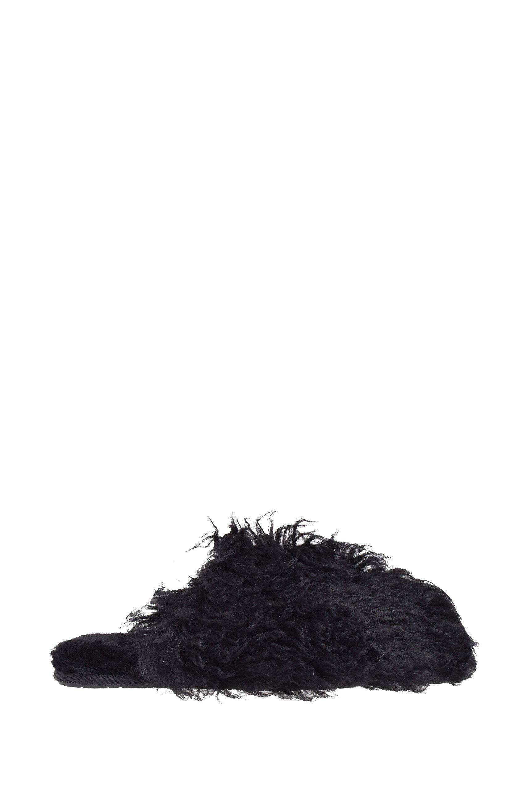 UGG Womens Fluff Momma Mongolian Clog Black Size 7