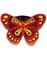 imzauber Forêt Rouge Papillon Badges (8cm de diamètre, UV actif) Butterfly Patch