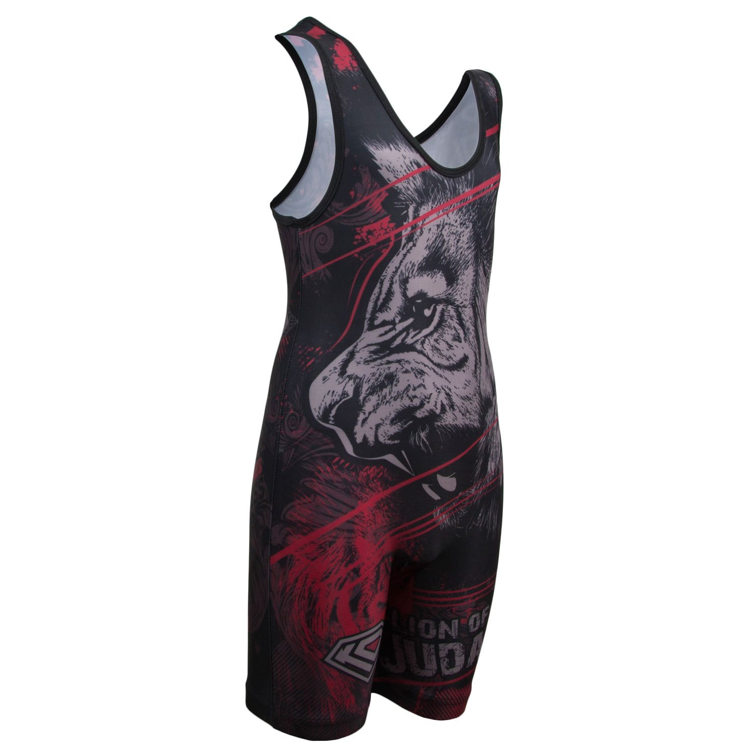 amazon com fire lion sublimated wrestling singlet youth and mens