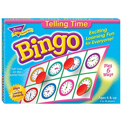 Fun to Know 36 pièces 333 g Que le temps d'apprentissage Jeux de bingo, blanc