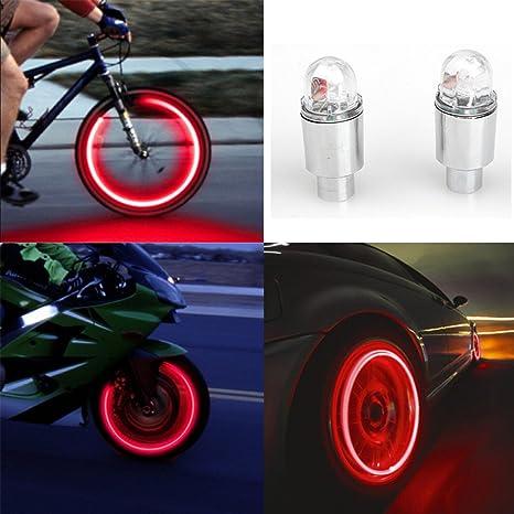 Lote de 4 luces LED Twinkling Stars, para neumático