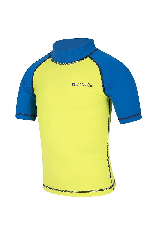 Mountain Warehouse Camiseta t/érmica de Manga Corta para ni/ños Camiseta t/érmica con Costuras Planas para ni/ños Camiseta t/érmica con protecci/ón Solar UPF50+
