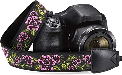 حزام كتف بطراز عتيق من Wolven بشريط للكتف ورقبة الكاميرا متوافق مع جميع DSLR/SLR/Digital Camera (DC)/كاميرا فورية/بولارويد وما إلى ذلك، أرجواني