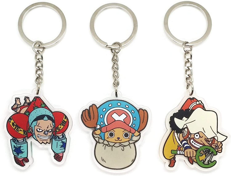 """Franky Iron Man Cyborg Straw Hat Pirates One Piece No 2/"""" Keychain Anime 877"""