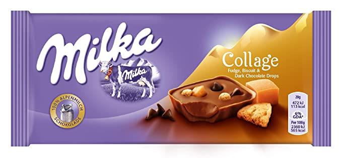 Milka Tableta De Chocolate Caramel Bits