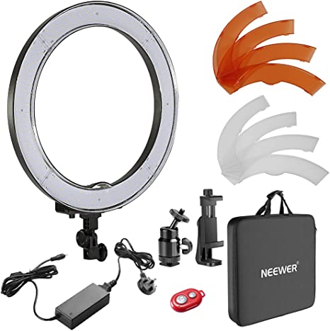 Neewer Orange and White Color Filter Set for Neewer 18 inches Ring Light