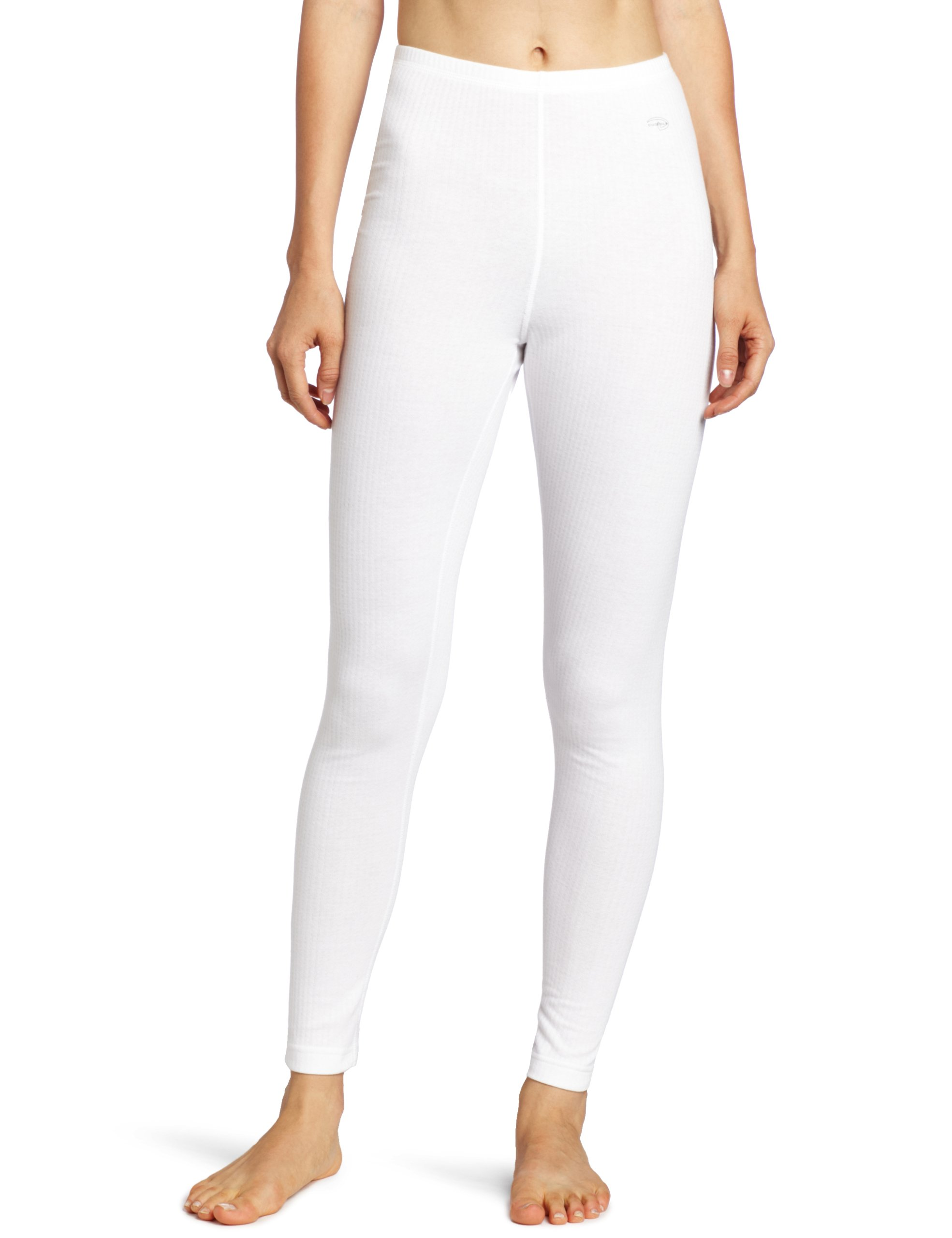 Duofold Women's Mid Weight Wicking Thermal Leggings, White, Medium
