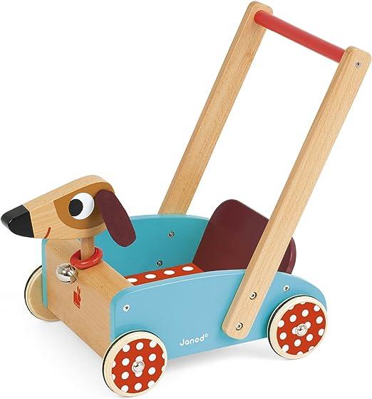 Janod - Crazy Doggy Andador Carrito de madera (J05995): Amazon.es: Juguetes y juegos