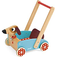 Janod J05995 Lauflernwagen aus Holz, Crazy Doggy