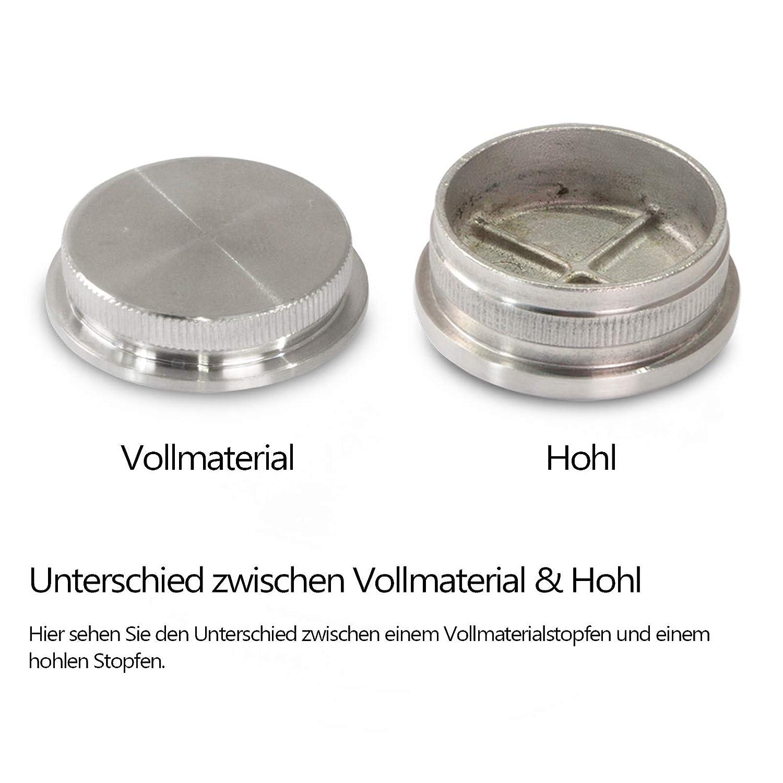 Edelstahl Rohrstopfen Endkappen V2A Abschlussdeckel Verschluss Gel/änder Stopfen /Ø33,7 x 2mm Gew/ölbt, /Ø33,7 x 2mm x 10 St/ück Gew/ölbt