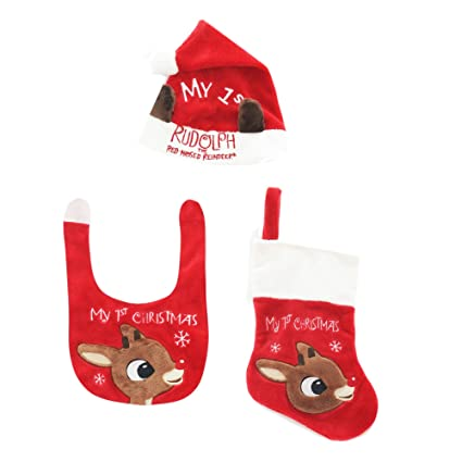 Image Unavailable. Image not available for. Color  Babys First Christmas  Stocking Holiday Bib Hat ... cd149c7f072