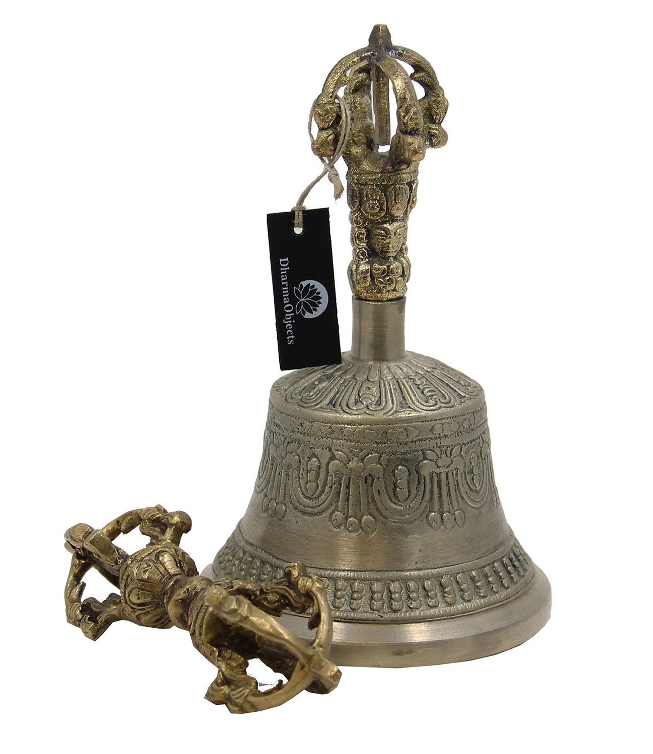 DharmaObjects Large Tibetan Buddhist Meditation Bell and Dorje Set by Dharmaobjects (Image #2)