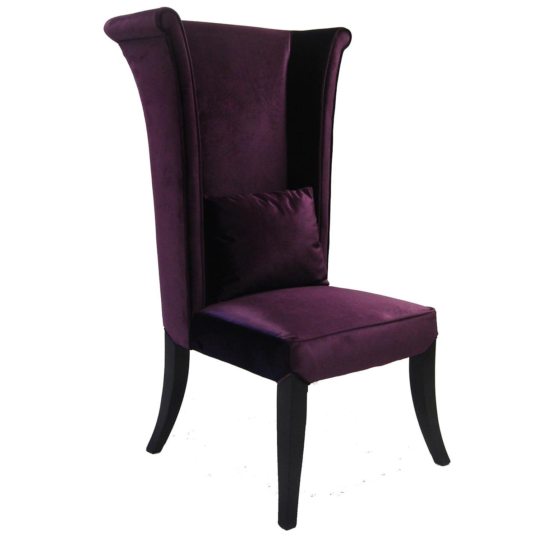 Purple velvet chair - Amazon Com Armen Living Mad Hatter Dining Chair Purple Velvet 28x31x52 Chairs