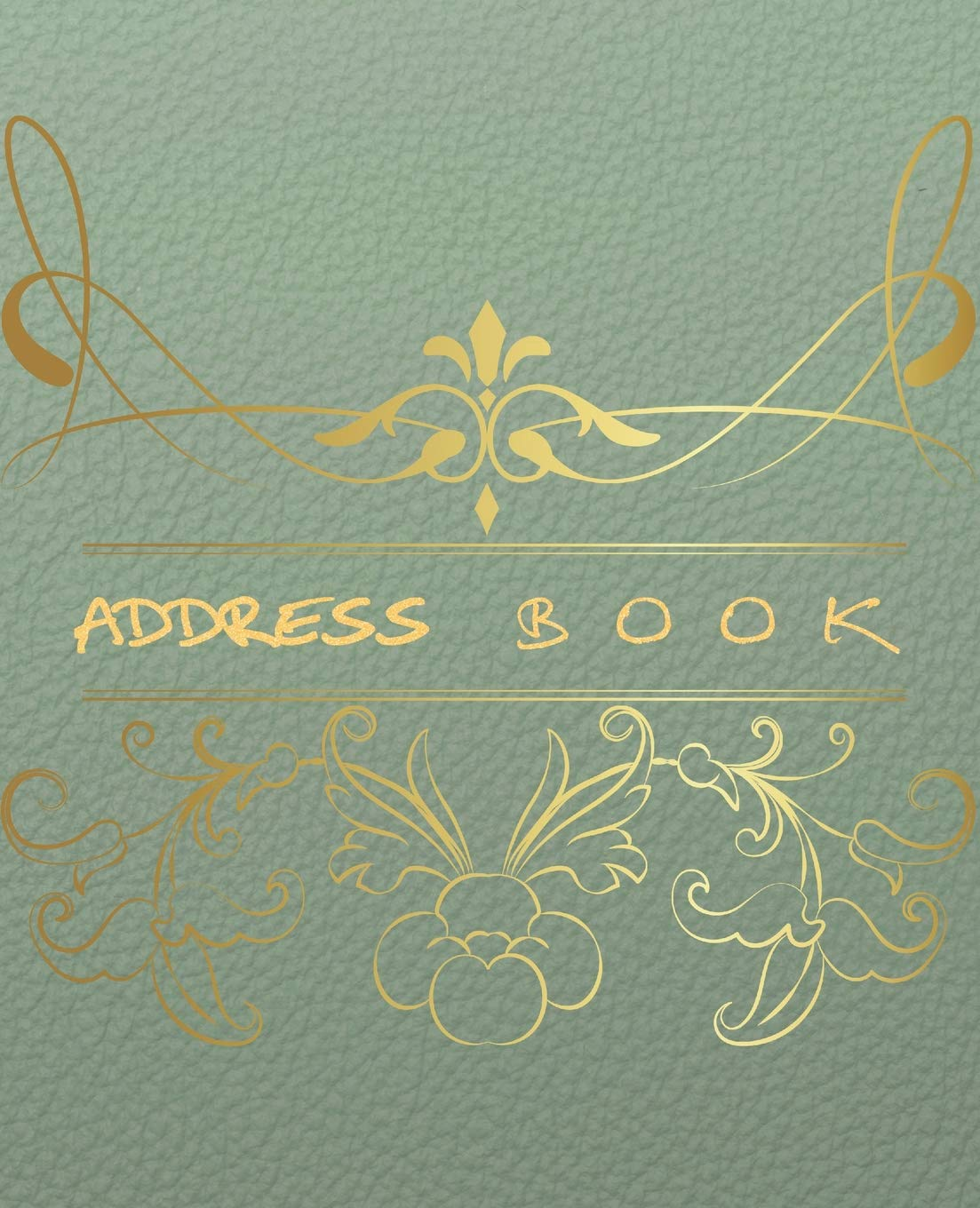 Address Book: Floral Cover address book for names, addresses, phone numbers, emails and birthdays Alphabetical Organizer Journal Notebook - 7.5X9.25 ... in Alphabetical Organizer Journal Series