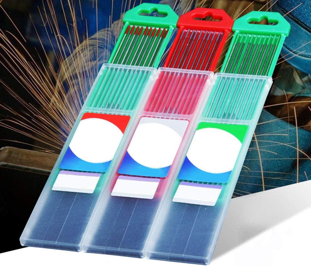 rouge, gris, vert Nosii TIG Soudure /électrodes de tungst/ène 10 tiges de soudure