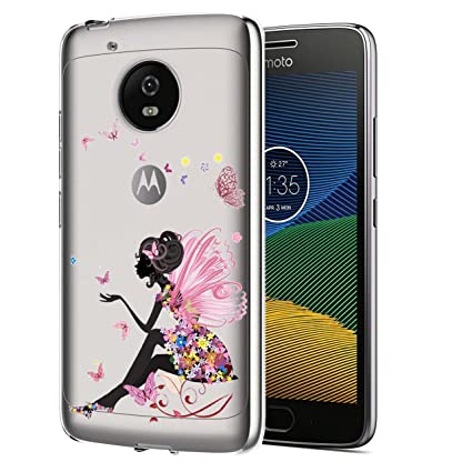 Moto G5 Plus Funda, ocketcase® TPU Carcasa Suave Silicona Flexible Gel Funda Resistente a los Arañazos Tapa Protectora Case Cover para Motorola Moto ...