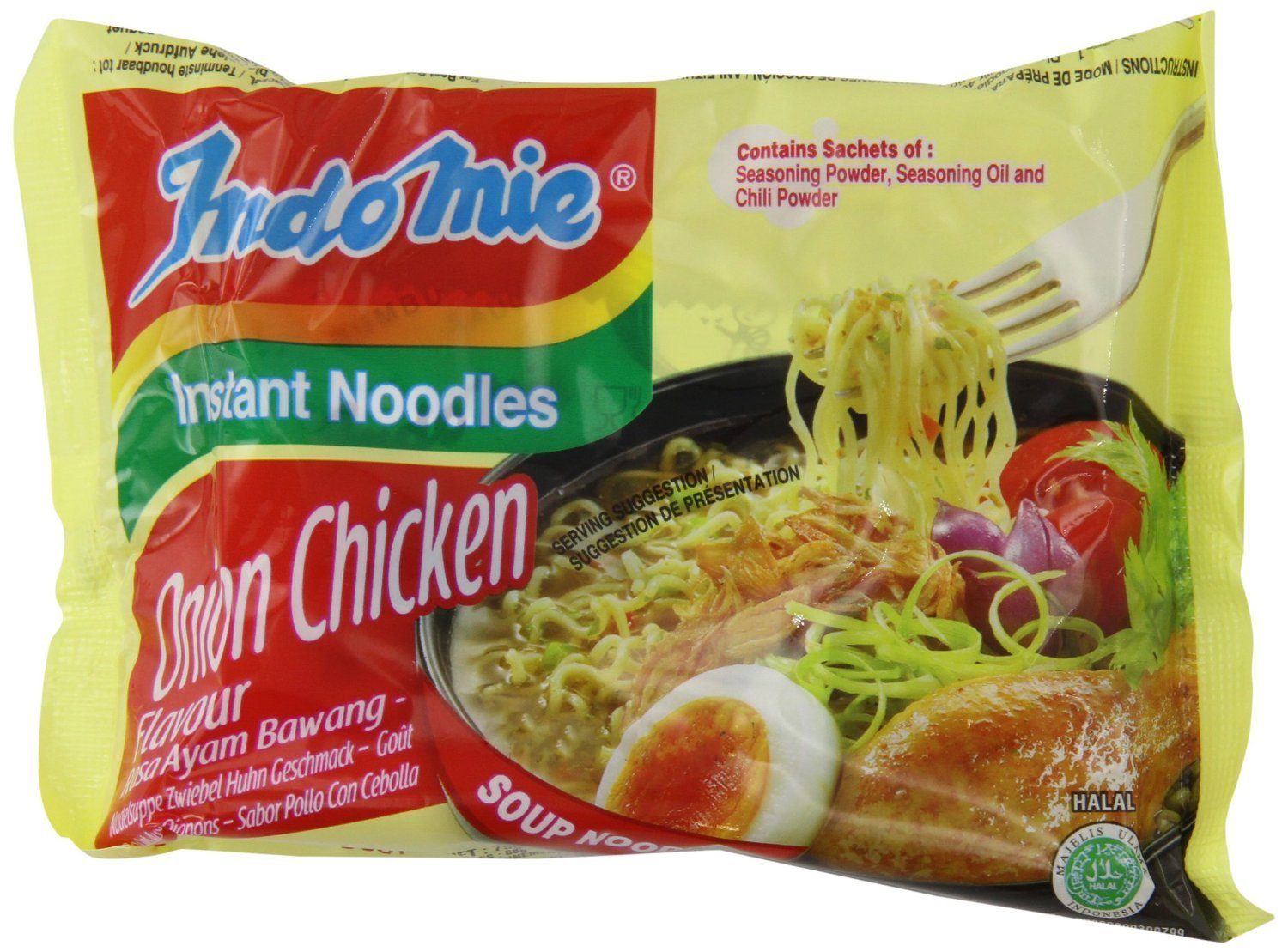 Indomie Instant Noodle Soup Onion Chicken HALAL (Pack of 30)