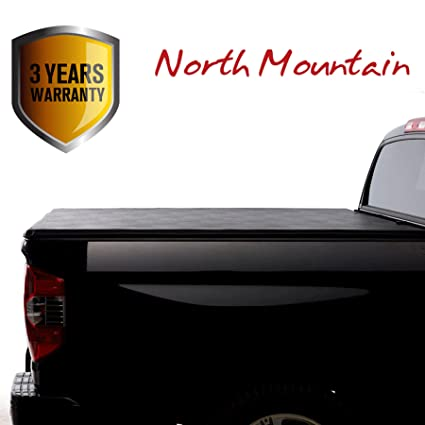 North Mountain Soft Vinyl Roll-up Tonneau Cover, Fit 15-18 Ford F150 Pickup 6.5ft Styleside Bed, Clamp On No Drill Top Mount Assembly w/ Rails+Mounting Hardware