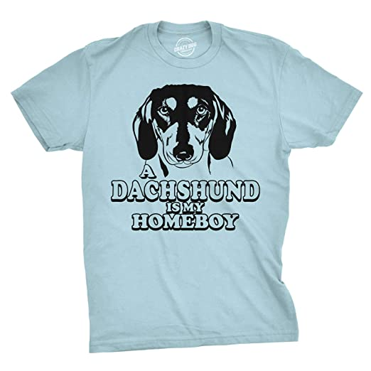 6eddf3c6 Dachshund is My Homeboy T Shirt Funny Weiner Dog Face T Shirts Clever Tees  (Blue