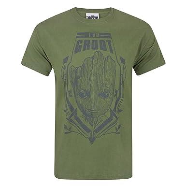 2c9bd4d2d Guardians of The Galaxy Mens Vol 2 I Am Groot T-Shirt (XXL) (Green):  Amazon.co.uk: Clothing