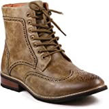 Metrocharm MET525-13 Men's Lace Up Perforated Wing Tip Formal Dress Casual Fashion Boots Run Big