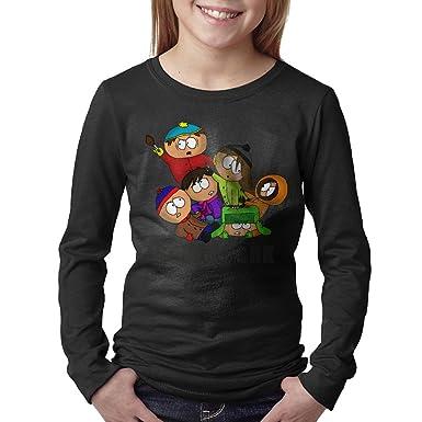 a23e8abbcca Amazon.com  Boy Black Long Sleeve South Park Design T Shirt  Clothing