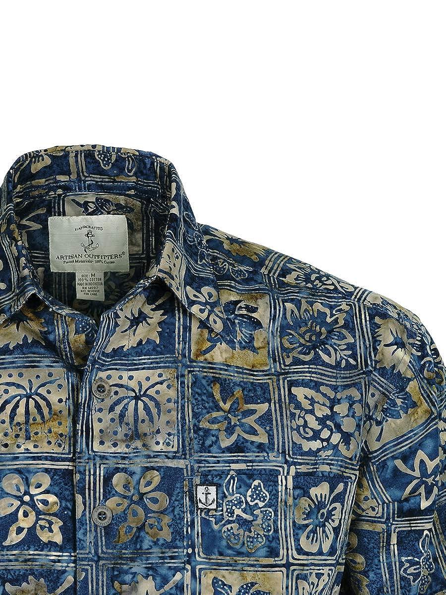Artisan Outfitters Mens Catalina Island Batik Cotton Shirt