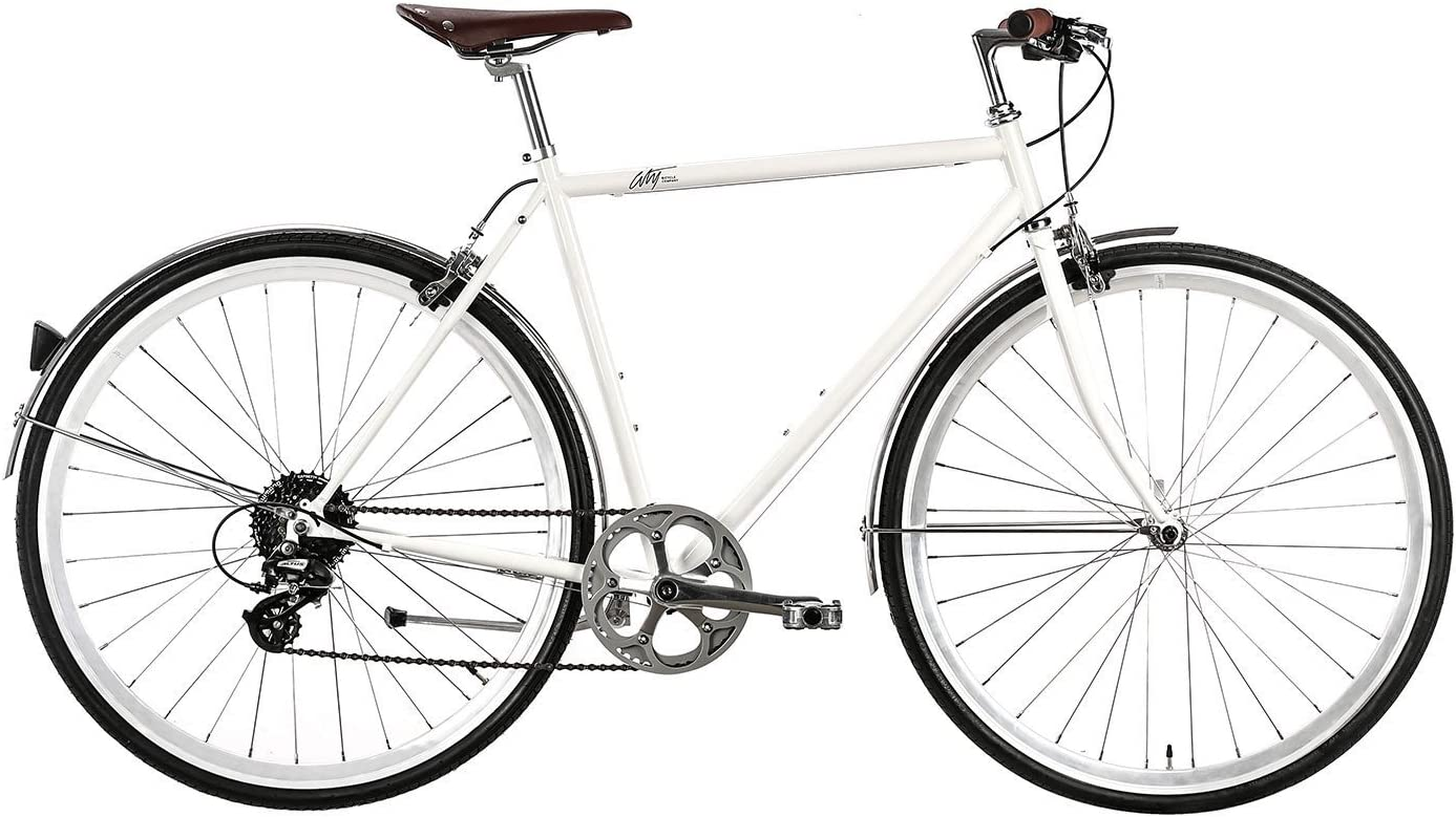 Multiple Colors and Sizes 8 Eight Speed Urban Commuter Bike with Chromoly Frame City Bicycle Company Classic Sport