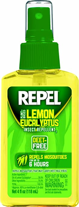Repel Lemon Eucalyptus Natural Insect Repellent, 4 Ounce Pump Spray