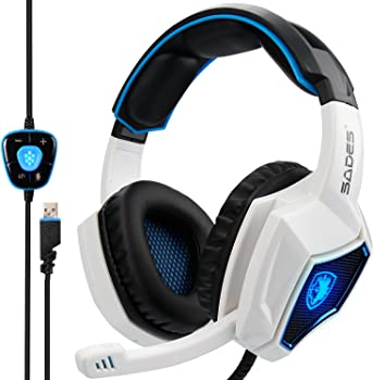Sades Over-Ear USB Wired Gaming Headphones