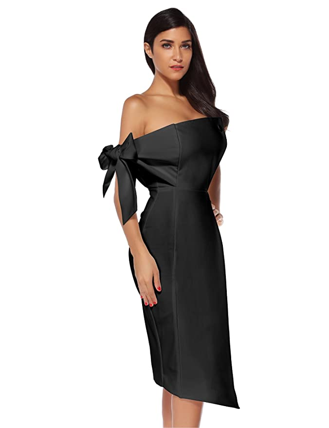 23fcf32d07f Meilun Women's One Shoulder Party Dress Club Bodycon Strapless Dress at Amazon  Women's Clothing store: