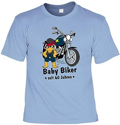Sprüche Tshirt 60 Geburtstag - Geschenk 60 Jahre : Baby Biker seit 60 Jahren  --