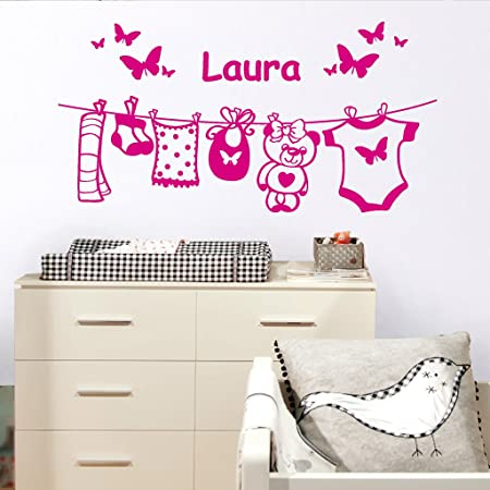 d2de3229ddf Loft Wall Sticker Baby Room Decoration with Personalised Name Girl Baby Please  Let Us Know Your ...