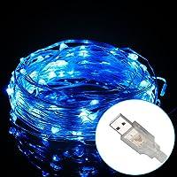 3-PK Excelvan Safe Low Voltage 100 LED String Lights Copper Wire