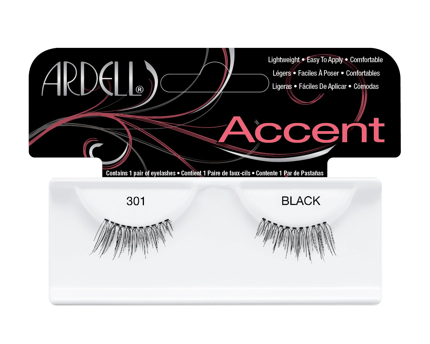 8260098ac26 Amazon.com : Ardell Lash Accents Pair Style 301, Black (Pack of 4) : Fake  Eyelashes And Adhesives : Beauty