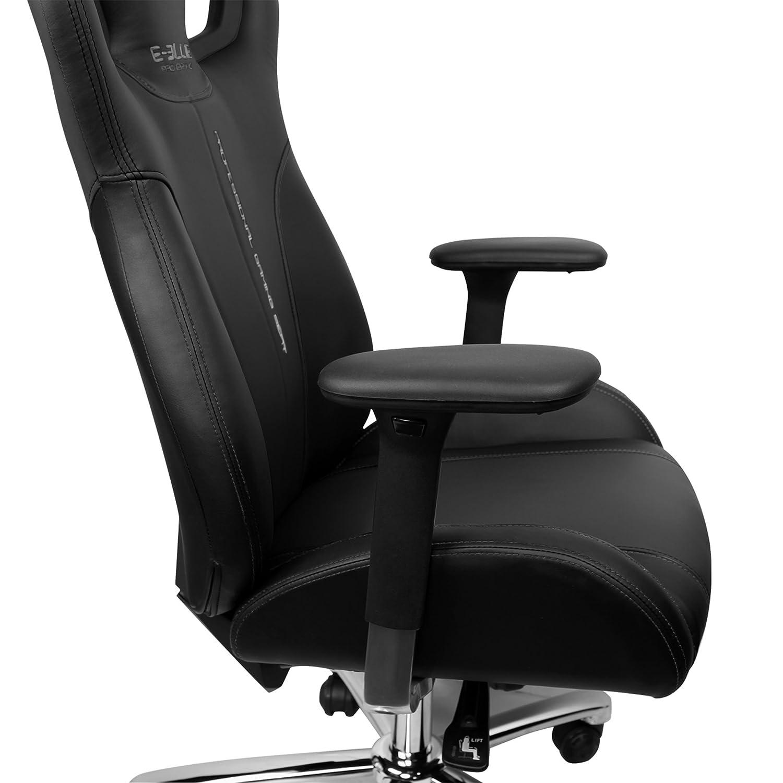 E-Blue Cobra EEC308BK - Silla de oficina y para gaming, piel sintética, ergonómica, color negro: Amazon.es: Hogar