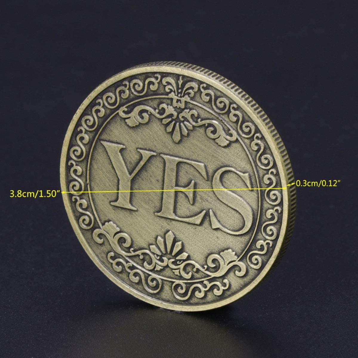 Yes No Challenge Coin Decision Maker Commemorative Coins Collection