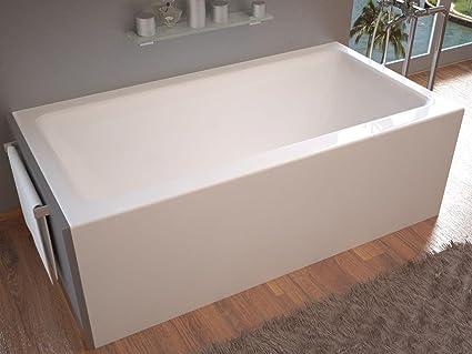 Spa World Venzi Vz3060shl Madre Rectangular Soaking Bathtub, 30x60, Left  Drain, White